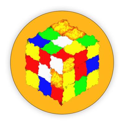 Костер (подставка под кружку) Кубик Рубика