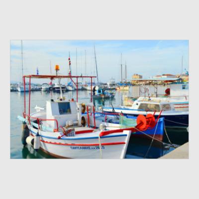 Постер Греция. В порту.