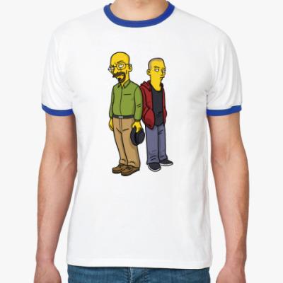 Футболка Ringer-T Breaking Bad Simpsons