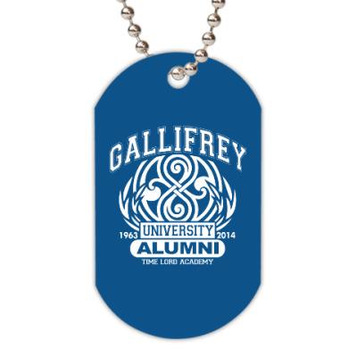 Жетон dog-tag Gallifrey University Alumni