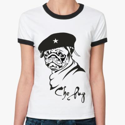 Женская футболка Ringer-T CHE PUG