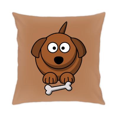 Подушка Собачка с косточкой