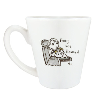 Чашка Латте Party Like Hannibal ( Ганнибал )