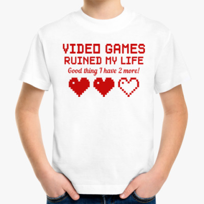 Детская футболка Video games ruined my life