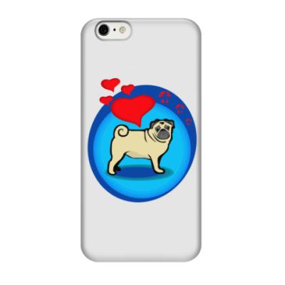 Чехол для iPhone 6/6s Pug