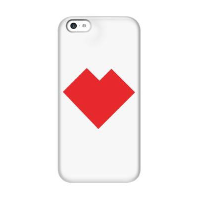 Чехол для iPhone 5c Сердце танграм