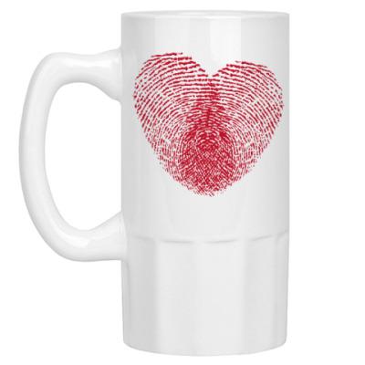 Пивная кружка Отпечатки Любви