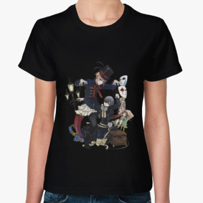 Женская футболка Тёмный дворецкий  Kuroshitsuji