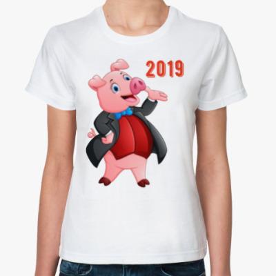 Классическая футболка Свин Джентльмен 2019