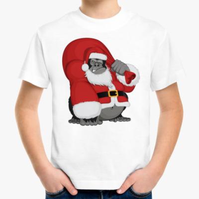 Детская футболка Горилла Санта