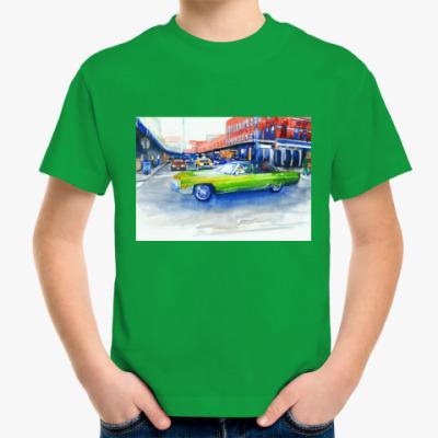 Детская футболка Крутая машина на 14-ой улице Нью Йорка
