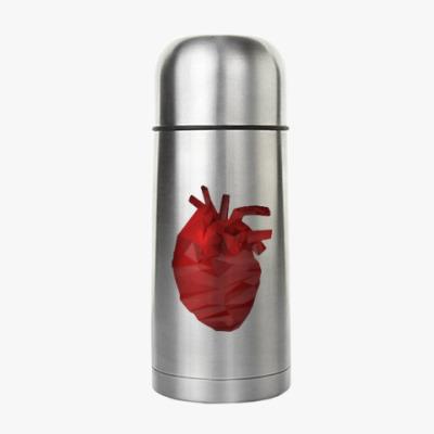 Термос Сердце 3D