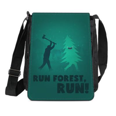 Сумка-планшет Run forest run! New Year