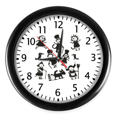 Настенные часы 'Хоровод поребриков'