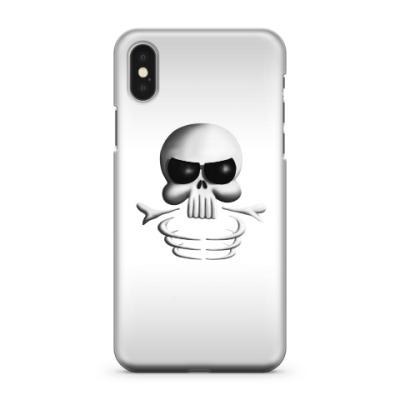 Чехол для iPhone X Череп