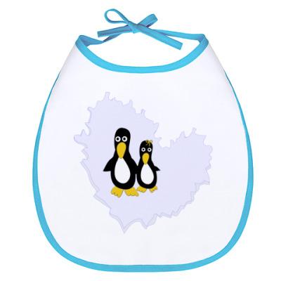 Слюнявчик Пингвины