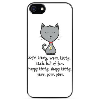 Чехол для iPhone Soft kitty warm kitty