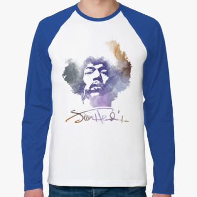 Футболка реглан с длинным рукавом  Jimi Hendrix - Джими Хендрикс