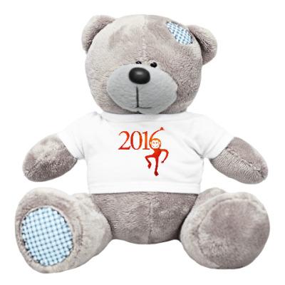 Плюшевый мишка Тедди Год Огненной Обезьяны 2016