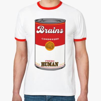 Футболка Ringer-T BRAINS FRESH HUMAN