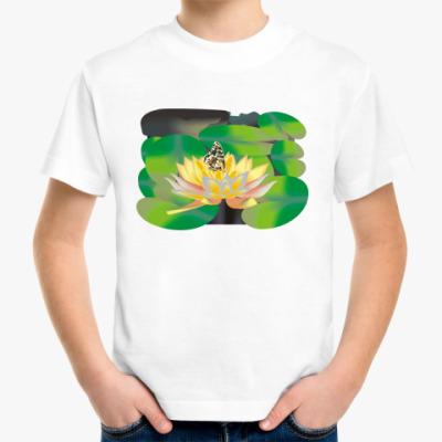 Детская футболка Бабочка и Лотос