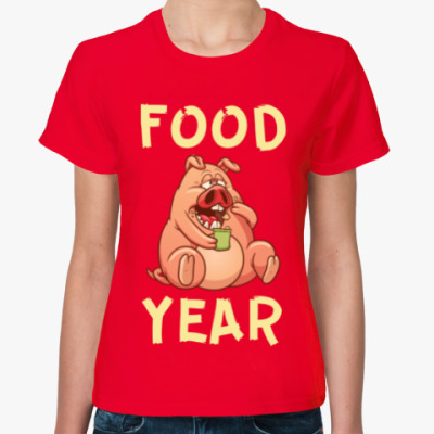 Женская футболка FOOD YEAR