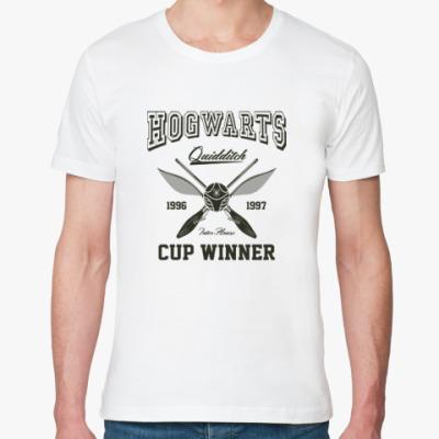 Футболка из органик-хлопка Hogwarts Quidditch Cup Winner