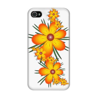 Чехол для iPhone 4/4s Огнецветы