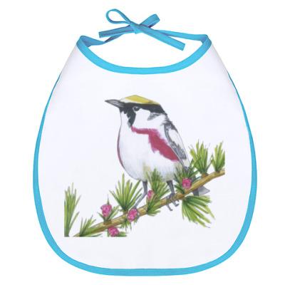 Слюнявчик Серия: птицы