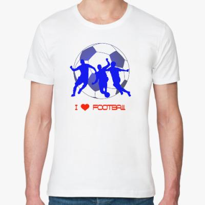 Футболка из органик-хлопка Я люблю футбол