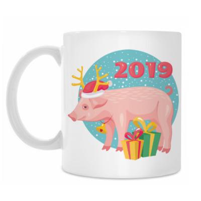 Кружка Год желтой свиньи 2019