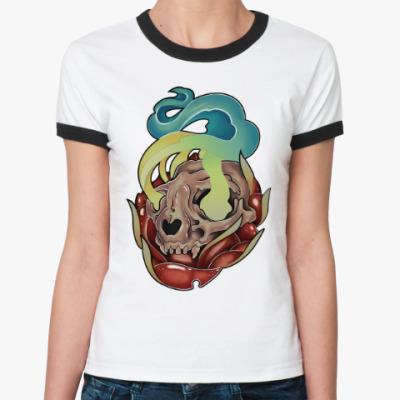 Женская футболка Ringer-T Skull