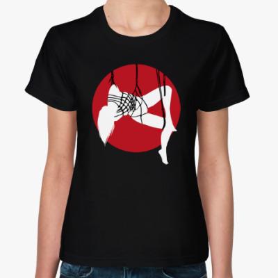 Женская футболка Шибари силуэт связанной девушки 2b от M&K ART