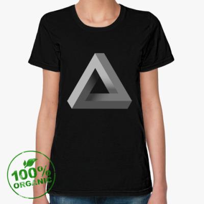 Женская футболка из органик-хлопка Невозможный Треугольник 3D
