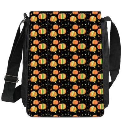 Сумка-планшет Черное с оранжевым
