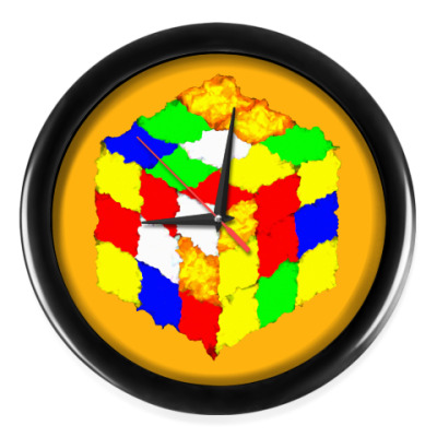 Настенные часы Кубик Рубика