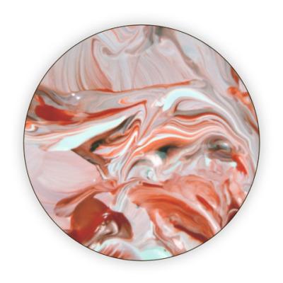 Костер (подставка под кружку) Краплак (Разводы краски)