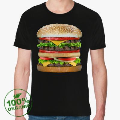 Футболка из органик-хлопка Вкусняшка гамбургер