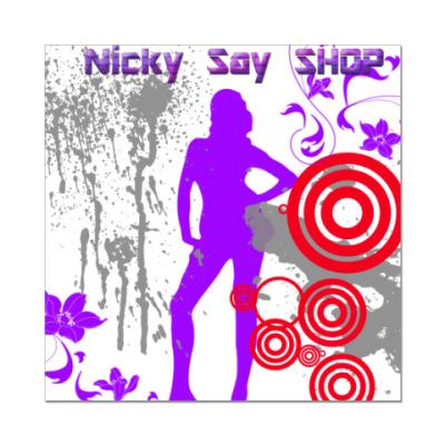 Наклейка (стикер) Nicky Say SHOP