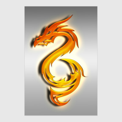Постер Огненный дракон