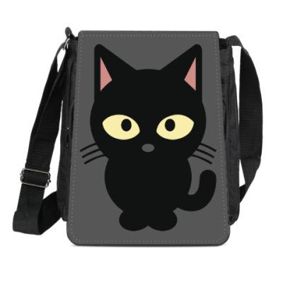 Сумка-планшет Черный Котик