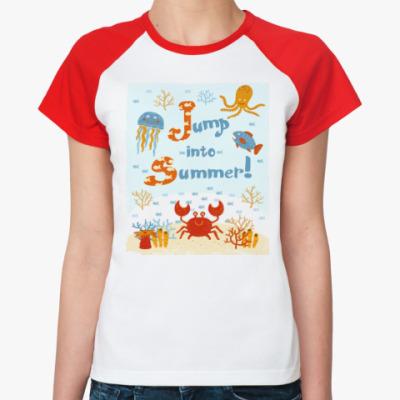 Женская футболка реглан Jump into summer!