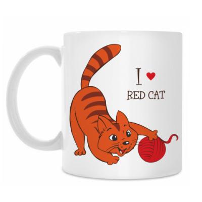 Кружка Я люблю рыжих котов