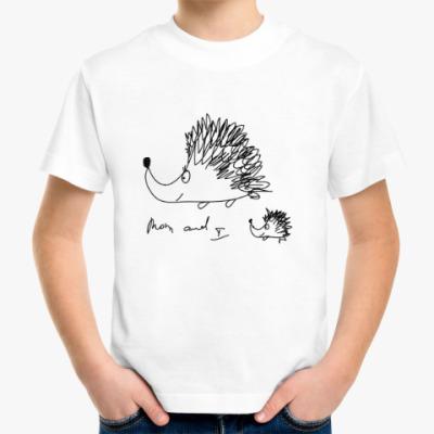 Детская футболка ежики