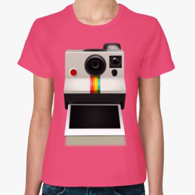 Женская футболка Полароид