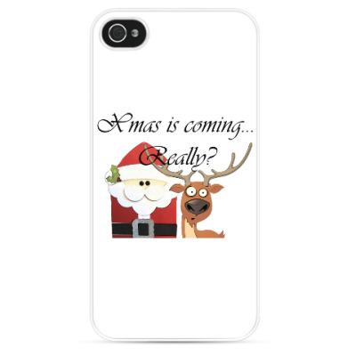 Чехол для iPhone Рождество наступает
