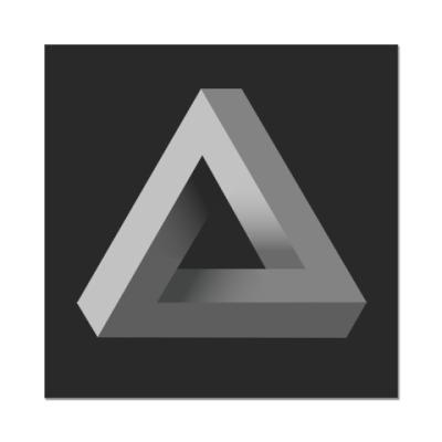 Наклейка (стикер) Невозможный Треугольник 3D
