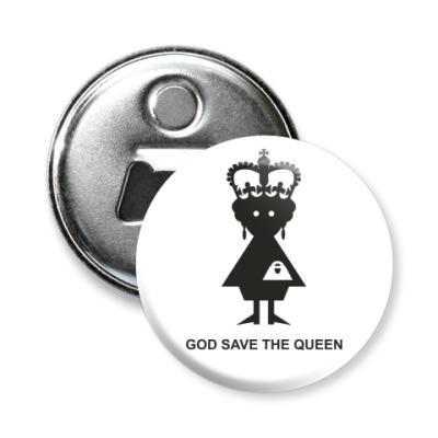 Магнит-открывашка  Королева Елизавета II