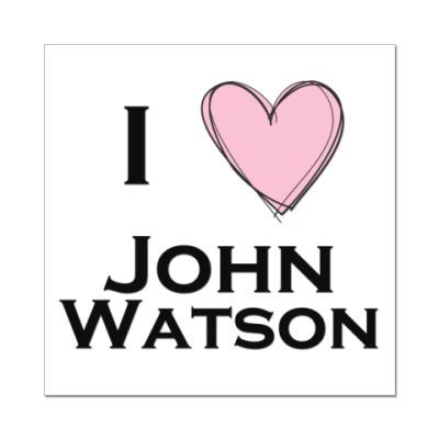 Наклейка (стикер) I <3 John Watson