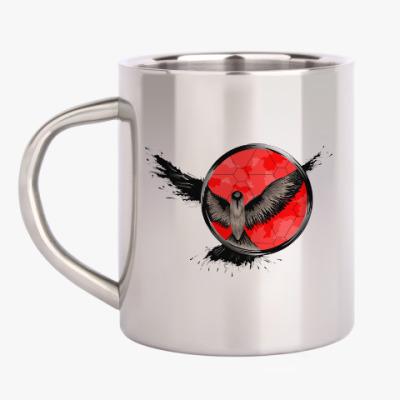 Кружка металлическая сова ловец снов